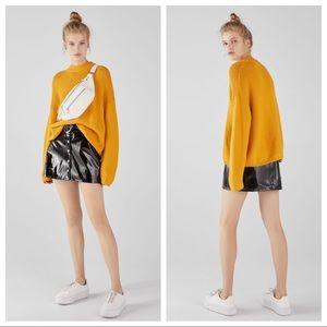 NWT. Bershka Mustard Oversized Sweater. Size XS.